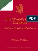 William W. Hallo - The World's Oldest Literature_ Studies in Sumerian Belles-Lettres (2009).pdf