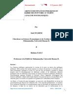 La transparence des finances publiques et l'équilibre des pouvoirs au Maroc (Analyse sociologique)_2017-1