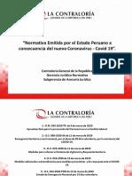 NORMATIVA EMITIDA PERU POR COVID 22.03.2020 RESUMEN
