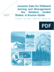 Economic data for wildland planning and management in the western United States