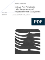 Effects of air pollutants on Mediterranean and temperate forest ecosystems