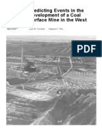 Predicting events in the development of a coal surface mine in the west