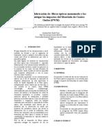 Evolución en la fabricación de  fibras ópticas monomodo y los métodos para mitigar los impactos del Mezclado de Cuatro Ondas (FWM)