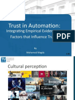 Trust in Automation