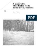 A meadow site classification for the Sierra Nevada