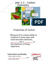 Chapter 2.3 Carbon Molecules Student ppt