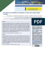 Articulo Kasmera parasitosis intestinales en niños del Cantón Paján