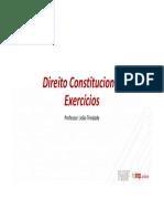 Direito Constitucional - Exercícios - Parte III