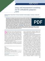 Diagnostic accuracy and measurement sensitivity of digital models for orthodontic purposes