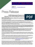 IVIIPO Endorsement Process