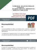 BIOCOMPATIBILIDAD DE LOS MATERIALES USADOS EN ENVASES DE MEDICAMENTOS, DISPOSITIVOS MÉDICOS E IMPLANTES (1)