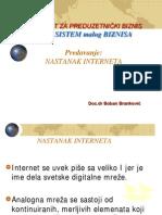 INFOsistem malog biznisa - Nastanak interneta