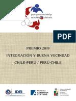 Premio 2019 Integración y buena vecindad