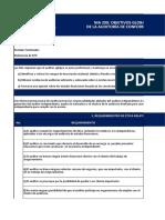 NIA 200 Objetivos globales del auditor independiente y realización