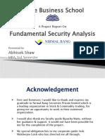Fundamental Security Analysis