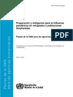 Preparacion mitigacion influenza refugiados