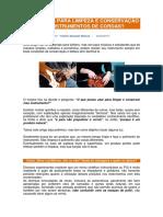 LIMPEZA E CONSERVACAO DE INSTRUMENTOS DE CORDAS
