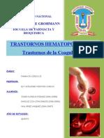 Trastornos Hematopoyeticos - Trastornos de La Coagulacion