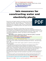 Explain Measures for Constructing Water and Electricity Plants