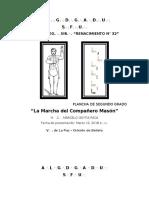 Plancha LA MARCHA DEL COMPAÑERO MASON