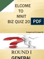 DMS MNIT Jaipur Quiz