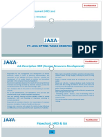 Job Desc HRD dan GA PT Jaya Optima Tunas Orientasi
