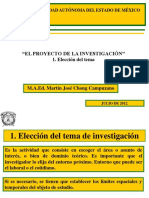 1. ELECCIÓN DEL TEMA  JULIO DE 2012
