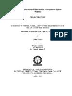 Web-Based Instructional Information Management System