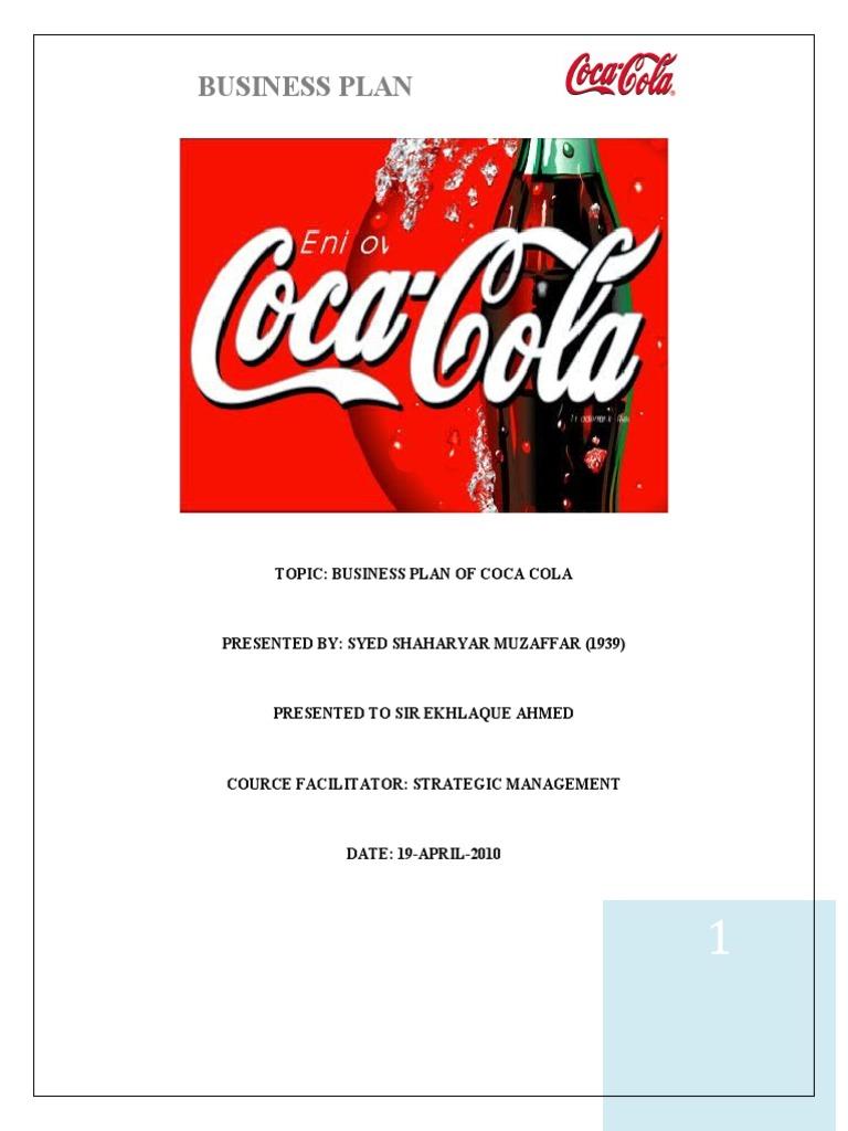 Coca cola business plan