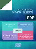 Conclusión lógica, Postulado y conectores