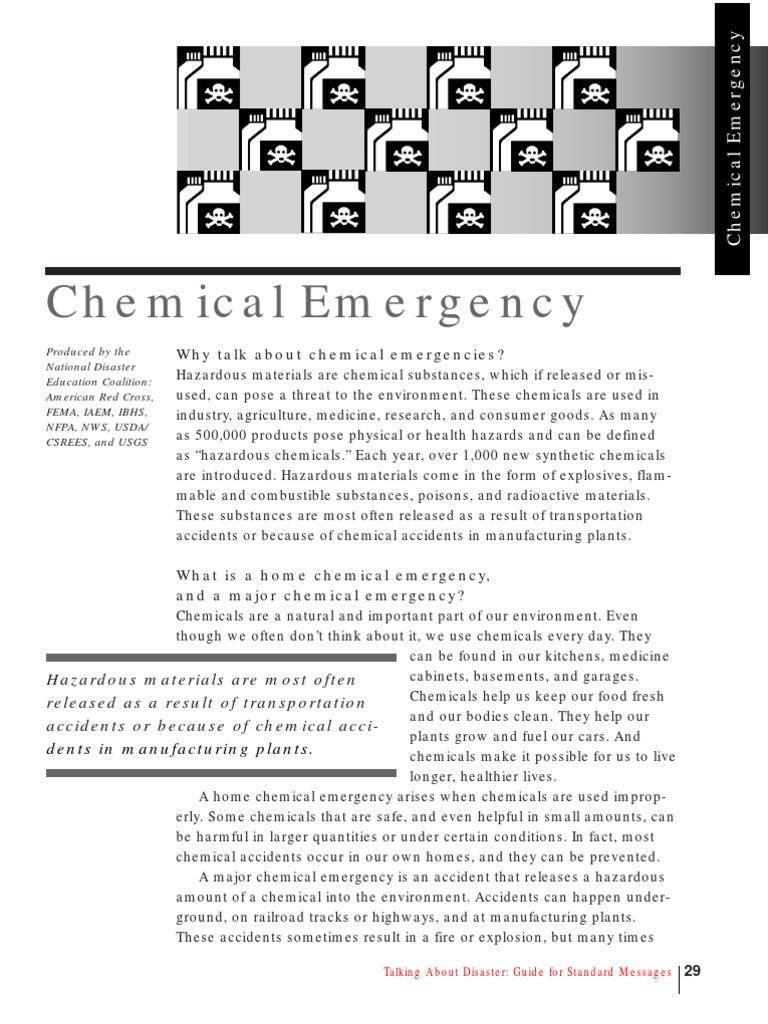 Chemical Emergencies   Emergency Evacuation   Dangerous Goods