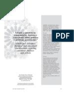 Genero e assistência considerações histórico-conceituais sobre práticas e políticas assistenciais
