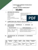 SILLABUS MAQUINAS BASICAS II 2017