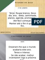 CONTANDO OS DIAS -366 Minicontos de Júlio Saldanha