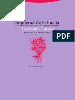 INQUIETUD DE LA HUELLA - Angel Dario Carrero