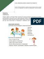 OBJETIVOS DE APRENDIZAGEM E DESENVOLVIMENTO