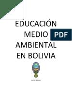 Módulo EDUCACIÓN MEDIO AMBIENTAL EN BOLIVIA