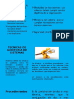 objetivos y tecnicas auditoria de sistemas