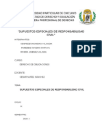 SUPUESTOS ESPECIALES DE RESPONSABILIDAD CIVIL  (OBLIGACIONES)