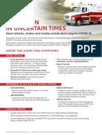 Coronavirus 911 Flyer per the American Heart Association