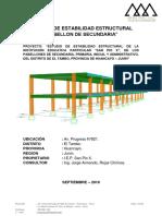Informe de Estabilidad Estructural