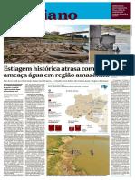 Estiagem histórica atrasa comida e ameaça água em região amazônica