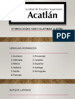Etimologías grecolatinas (latín)