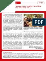 Palabra N° 19 - DOMINGO DE RAMOS - 05 DE ABRIL DE 2020
