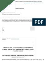 (PDF) Proyecto para la activación del laboratorio de control biológico de plagas Renato Agagliati en el Valle de Quibor.pdf