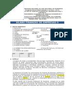 SILABO EC 453 FINANZAS II ECONOMIA 2020 I
