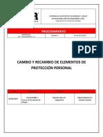 SGSO&S-MSY-1.1 PTS CAMBIO Y RECAMBIO DE EPP-2019