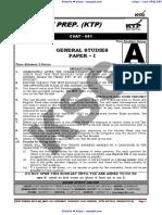 KSG Prelims Test CSAT 1 Question