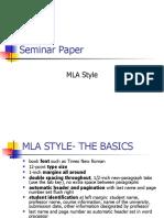 Seminar paper (MLA style)