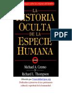 La Historia Oculta de La Especie Humana